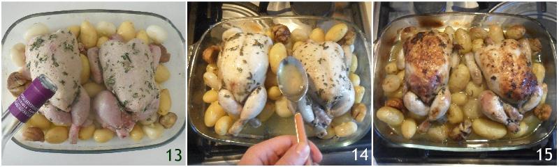 Galletto ripieno di castagne e salsiccia ricetta pollo ripieno dorato morbido il chicco di mais 5 cuocere in forno