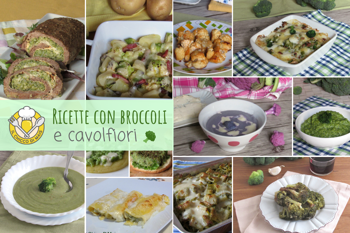 Ricette con broccoli e cavolfiori antipasti contorni primi secondi ricette facili e veloci