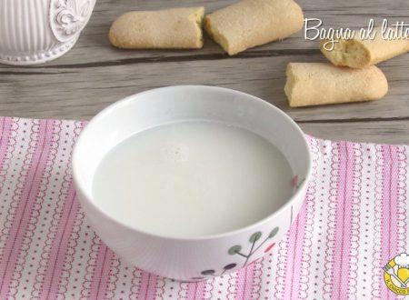 Bagna al latte per torte e tiramisù