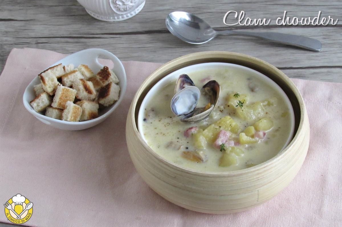 clam chowder zuppa di vongole americana con patate e bacon ricetta il chicco di mais