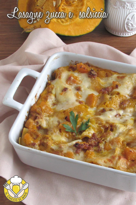 v intero lasagne zucca e salsiccia morbide cremose ricetta facile il chicco di mais