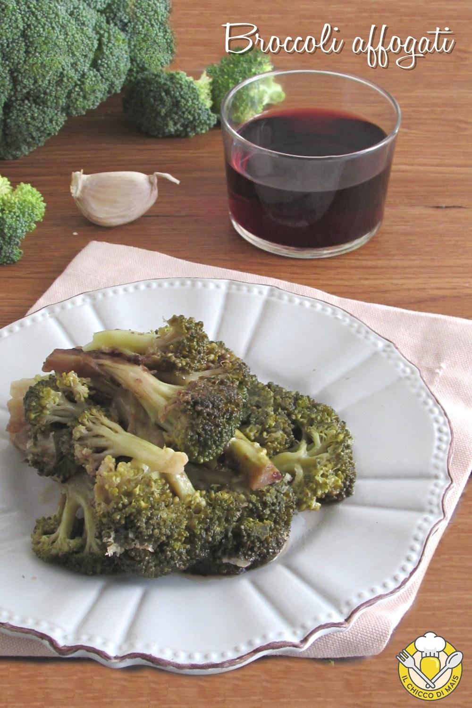 v_ Broccoli affogati al vino rosso ricetta siciliana sparacieddi accupati in padella il chicco di mais