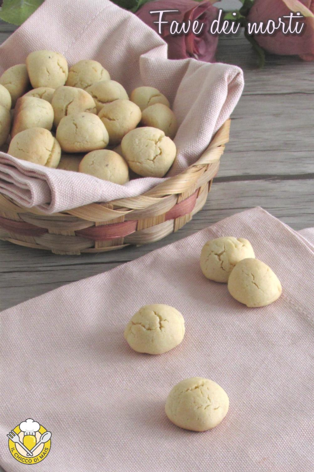 v_ Fave dei morti ricetta romana laziale biscotti alle mandrle del 2 novembre il chicco di mais