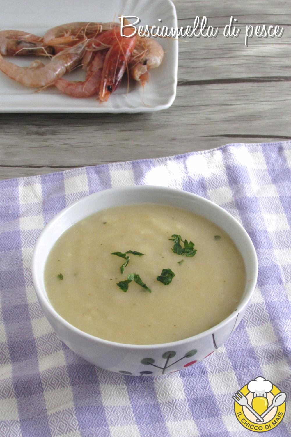 v_ besciamella di pesce con brodo di pesce per lasagne di mare o pasticcio di pesce ricetta facile il chicco di mais