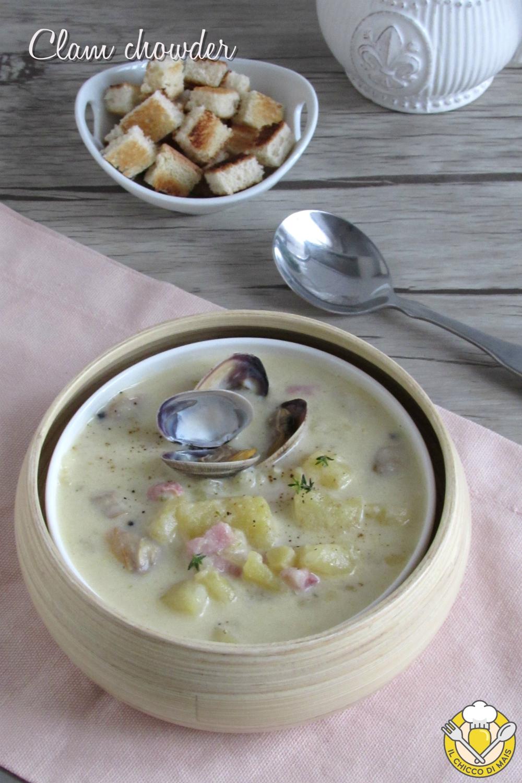 v_ clam chowder zuppa di vongole americana con patate e bacon ricetta il chicco di mais