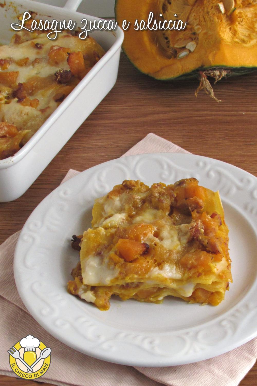 v_ lasagne zucca e salsiccia morbide cremose ricetta facile il chicco di mais