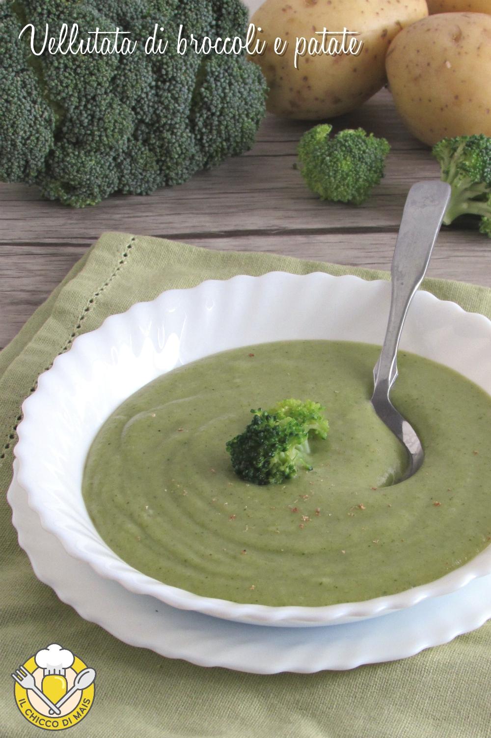 v_ vellutata di broccoli e patate ricetta facile cremosissima senza panna il chicco di mais