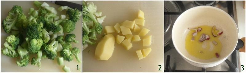 vellutata di broccoli e patate ricetta facile cremosissima senza panna il chicco di mais 1 tagliare le verdure