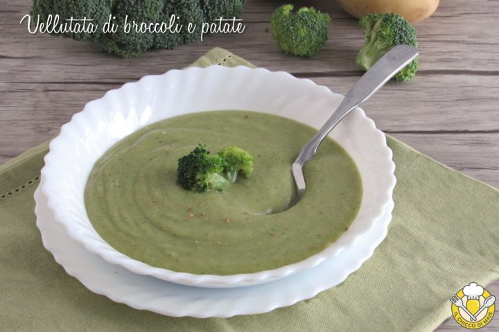 vellutata di broccoli e patate ricetta facile cremosissima senza panna il chicco di mais