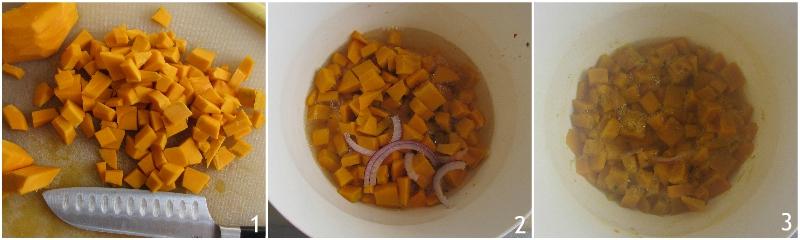vellutata di zucca al microonde ricetta veloce in 10 minuti senza patate il chicco di mais 1 cuocere la zucca al microonde