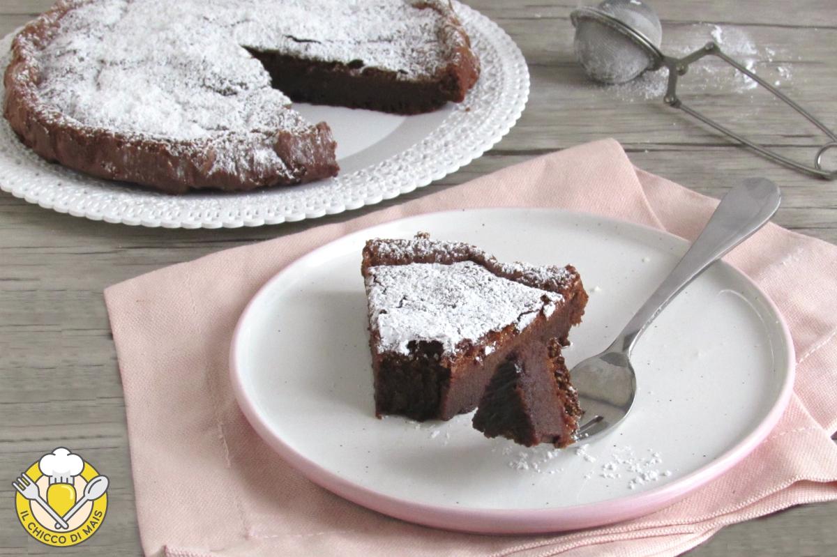 Torta magica alla nutella solo 2 ingredienti torta umida senza farina il chicco di mais