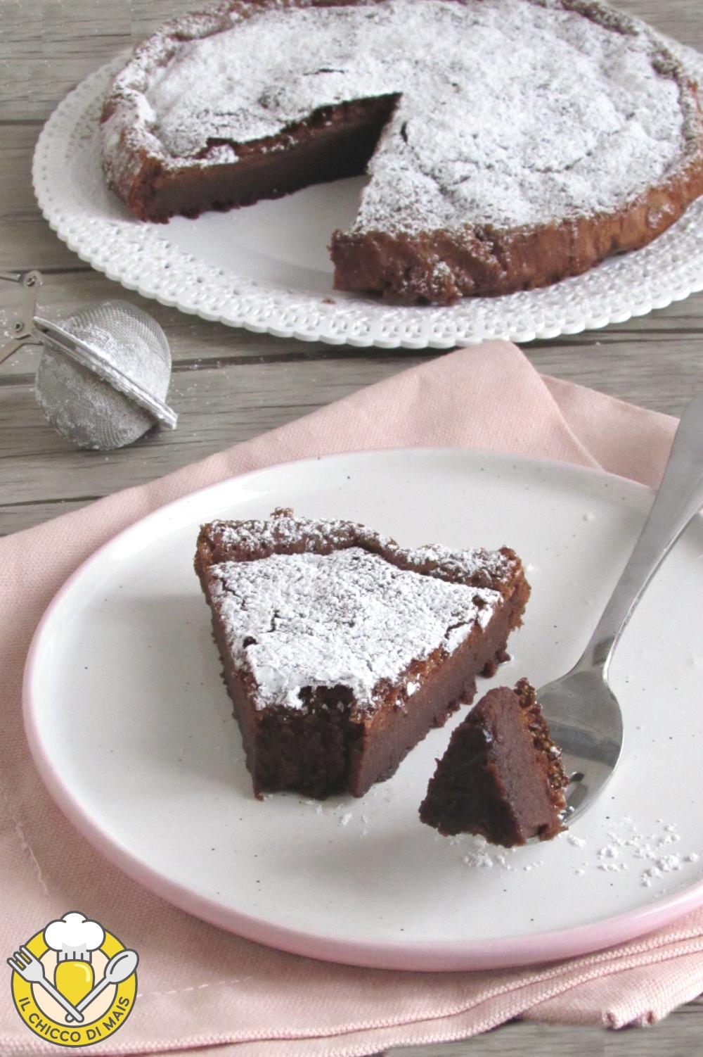 V_ Torta magica alla nutella solo 2 ingredienti torta umida senza farina il chicco di mais