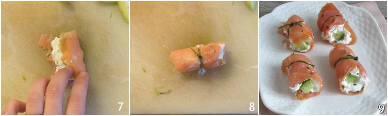 involtini di salmone e avocado ricetta antiipasto raffinato facile veloce elegante il chicco di mais 3 chiudere i rotolini