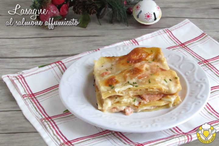 lasagne al salmone affumicato cremose ricetta facile e veloce il chicco di mais