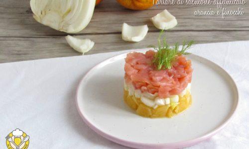 Tartare di salmone affumicato arance e finocchi