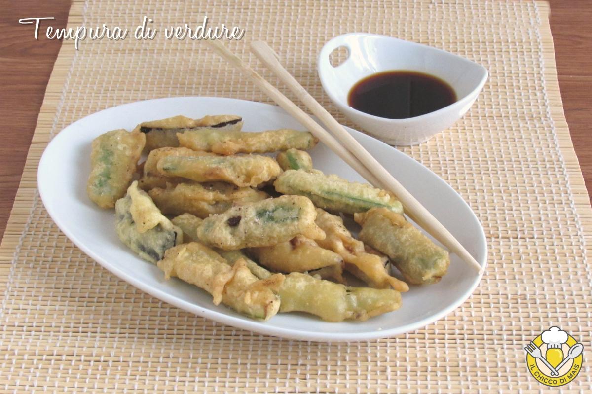 tempura di verdure con farina di riso ricetta verdure in pastella giapponese croccanti asciutte il chicco di mais