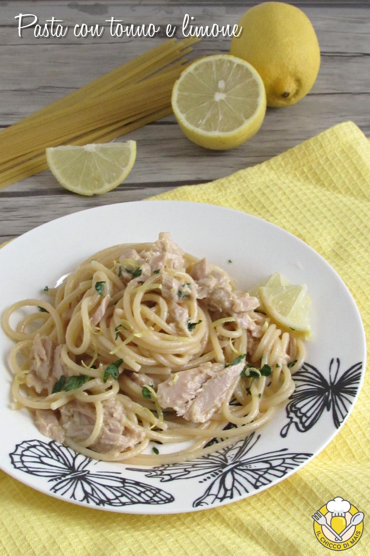 v_ Pasta con tonno e limone ricetta veloce e cremosa il chicco di mais