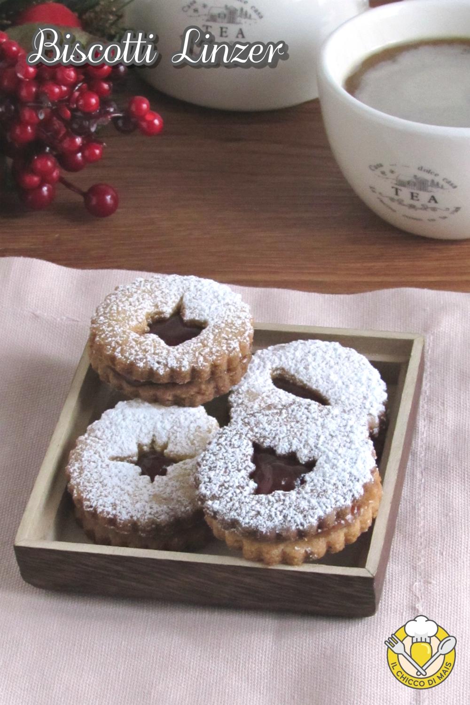 v_ biscotti linzer ricetta originale austriaca biscotti di natale farciti con marmellata il chicco di mais