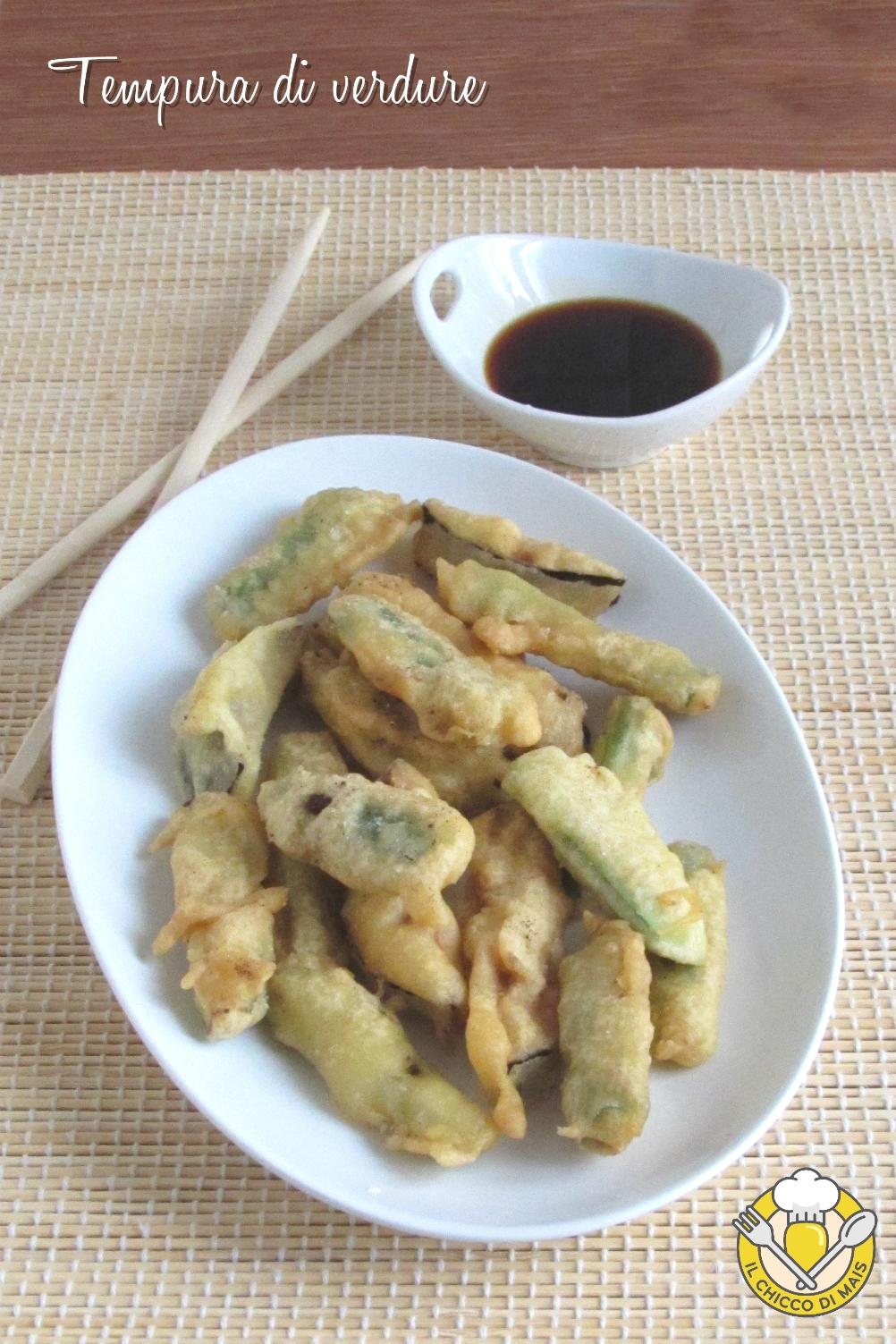 v_ tempura di verdure con farina di riso ricetta verdure in pastella giapponese croccanti asciutte il chicco di mais