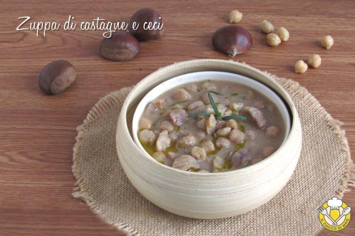 zuppa di castagne e ceci cremosa ricetta vegetariana vegana il chicco di mais