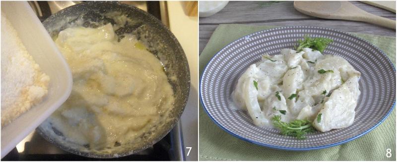 Finocchi al latte in padella ricetta finocchi light cremosi leggeri il chicco di mais 3 unire il parmigiano