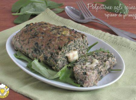 Polpettone agli spinaci ripieno di formaggio