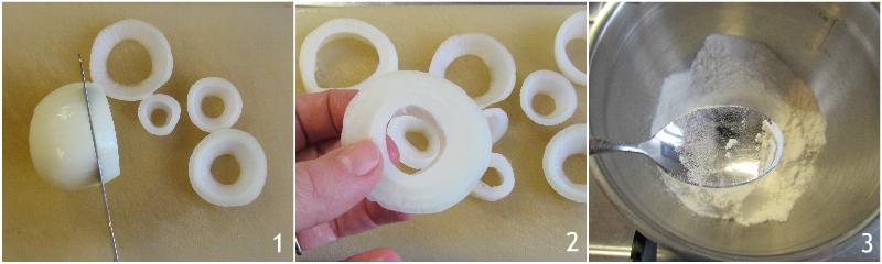 onion rings anelli di cipolla fritti croccanti ricetta americana il chicco di mais 1 tagliare le cipolle