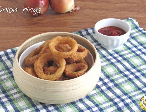 Onion rings: anelli di cipolla fritti