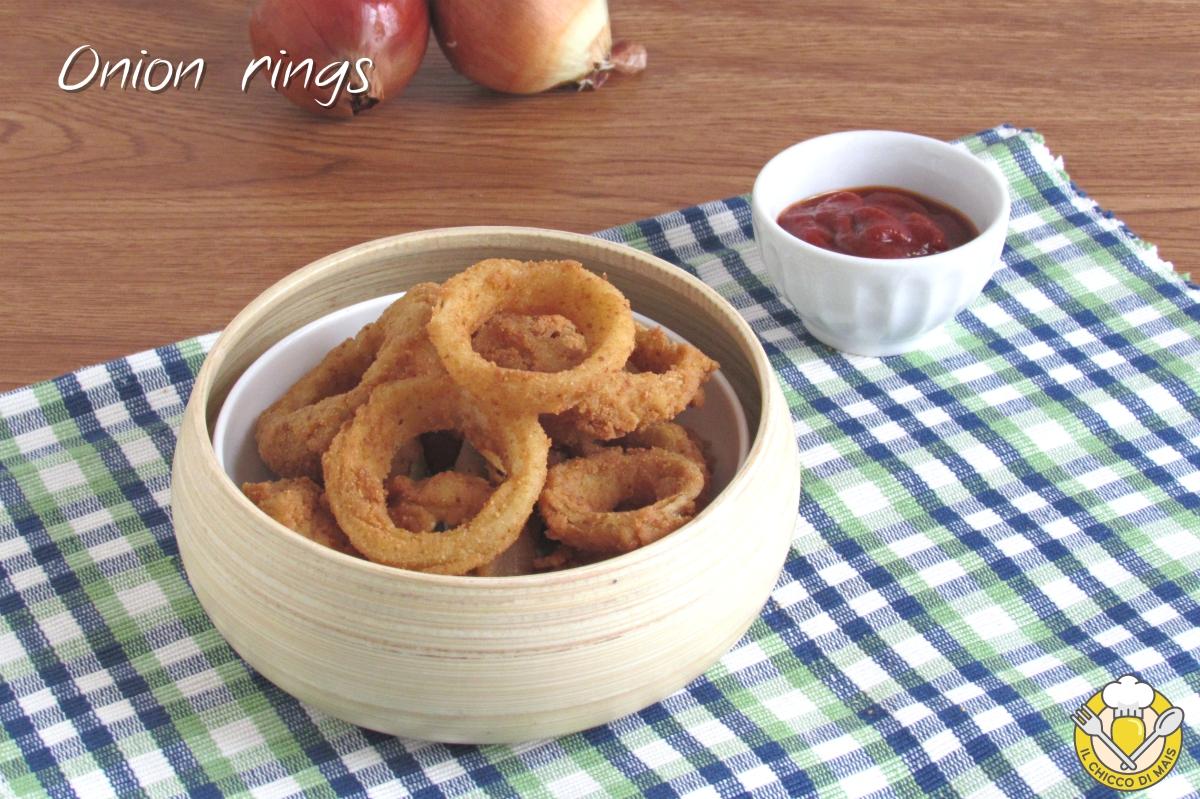 onion rings anelli di cipolla fritti croccanti ricetta americana il chicco di mais