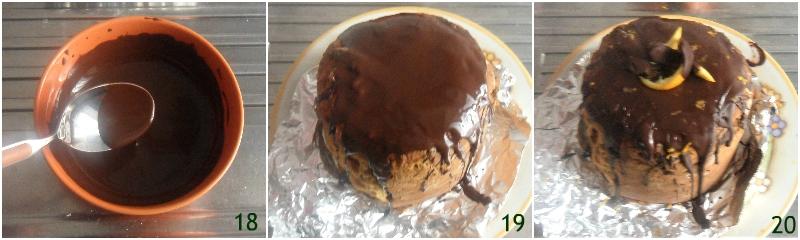 panettone ripieno di mousse all'arancia che non cola fetta perfetta il chicco di mais 7 decorare il panettone col cioccolato