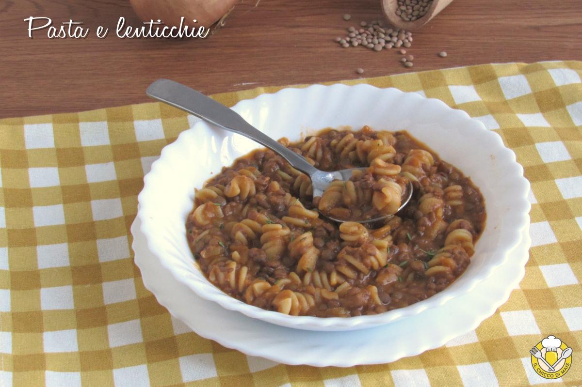 pasta e lenticchie cremosa risottata ricetta facile vegetariana vegana il chicco di mais