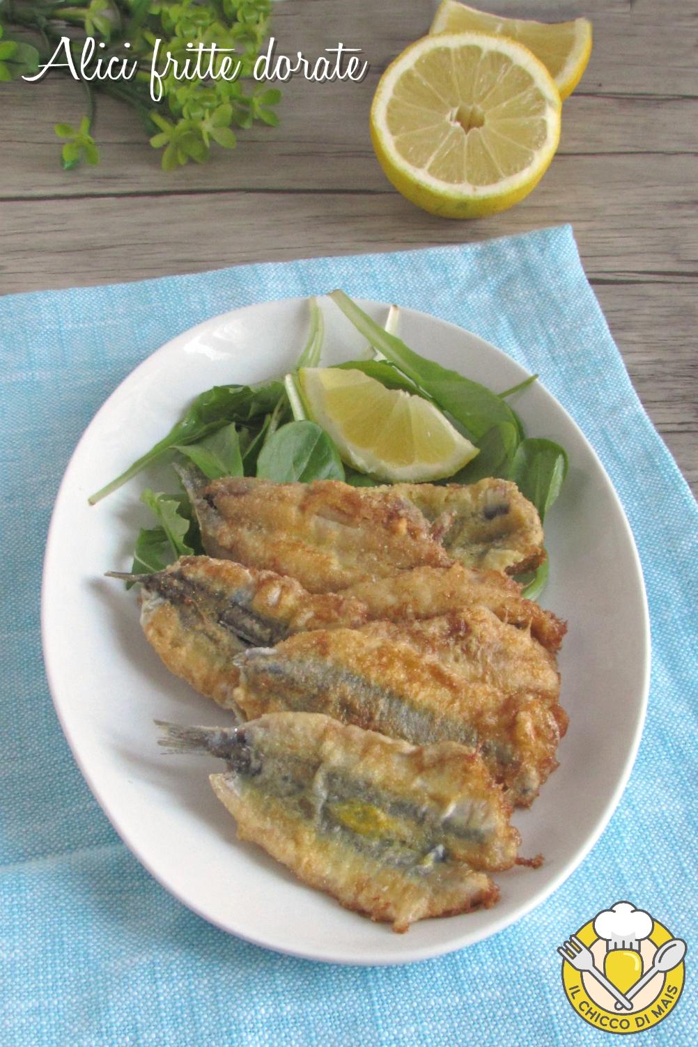 v_ alici fritte dorate uova e farina senza pastella ricetta facile economica il chicco di mais