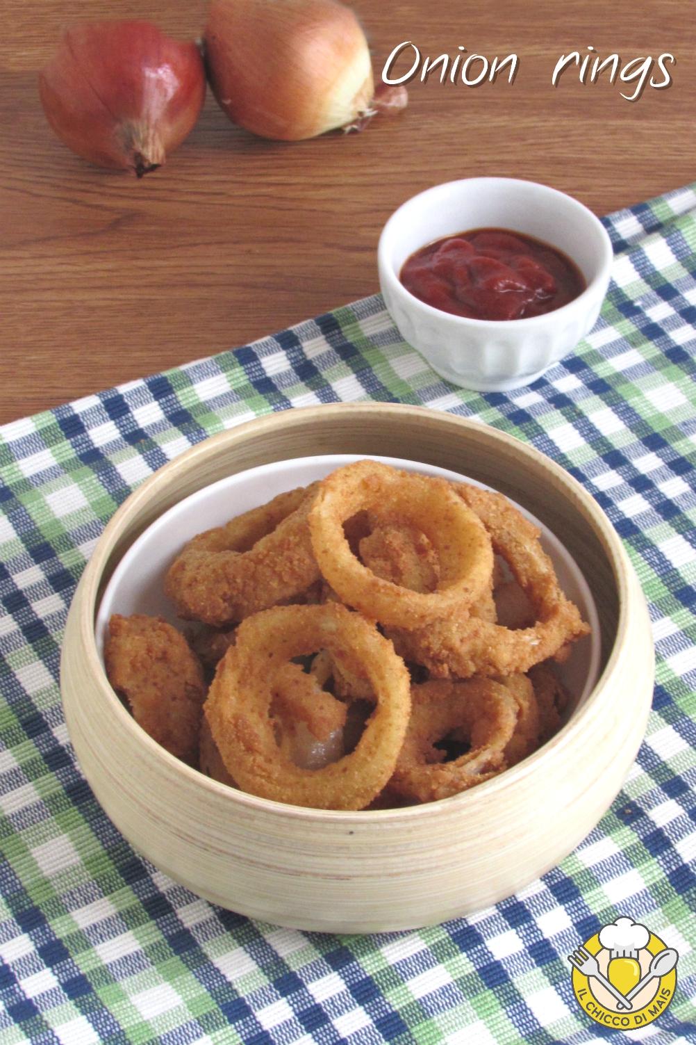 v_ onion rings anelli di cipolla fritti croccanti ricetta americana il chicco di mais