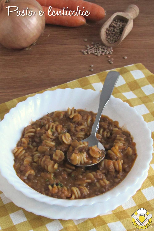 v_ pasta e lenticchie cremosa risottata ricetta facile vegetariana il chicco di mais