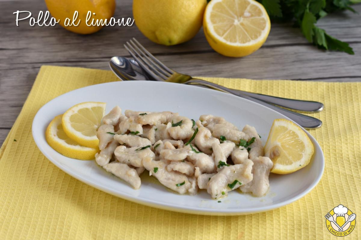 bocconcini di pollo al limone ricetta veloce facile per cucinare il petto di pollo diverso il chicco di mais