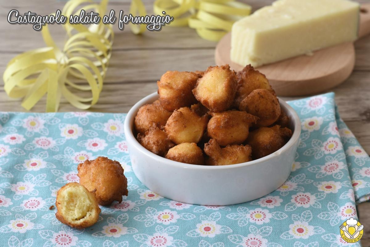 castagnole salate al formaggio ricetta frittelle salate con ricotta e pecorino il chicco di mais