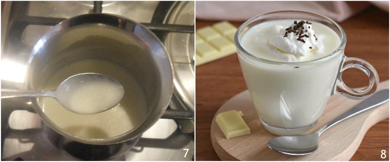 cioccolata calda bianca densa e cremosa ricetta facile con foto passo passo il chicco di mais 3 far addensare