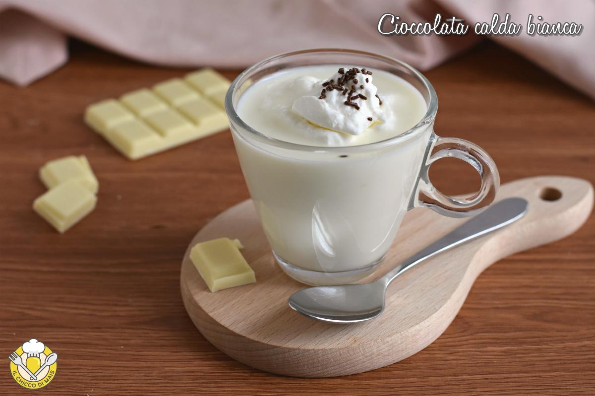 cioccolata calda bianca densa e cremosa ricetta facile con foto passo passo il chicco di mais