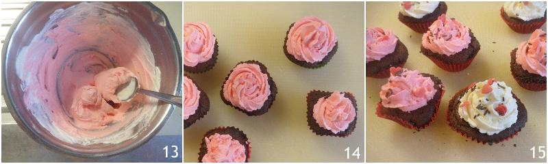 cupcake al cioccolato e mascarpone decorati per san valentino ricetta facile anche senza glutine il chicco di mais 5 decorare con glassa rosa e zuccherini