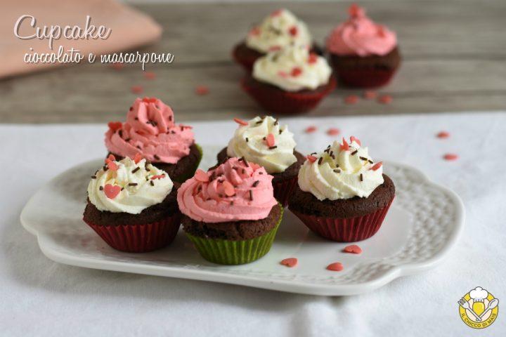cupcake al cioccolato e mascarpone decorati per san valentino ricetta facile anche senza glutine il chicco di mais