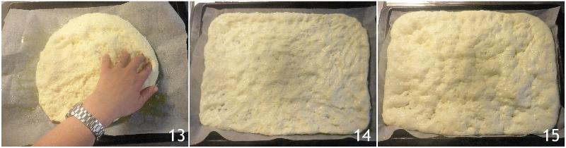 focaccia di patate senza glutine ricetta con patate lesse nell'impasto il chicco di mais 5 seconda lievitazione