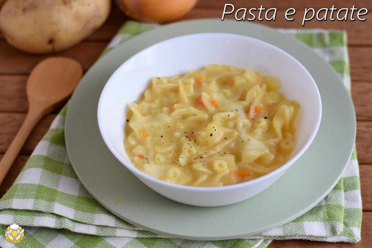 pasta e patate alla napoletana con provola ricetta originale pasta e patate densa azzeccata il chicco di mais