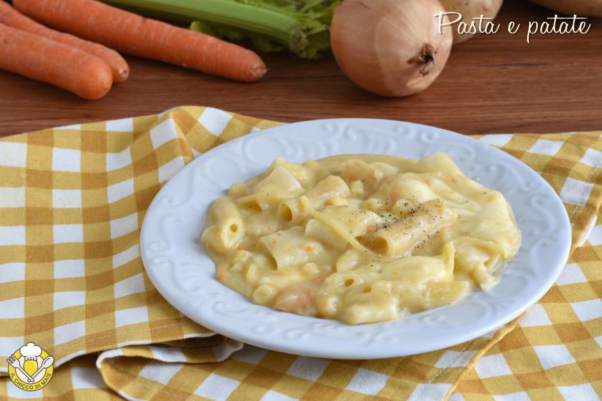 pasta e patate alla napoletana con provola ricetta originale senza pomodoro il chicco di mais