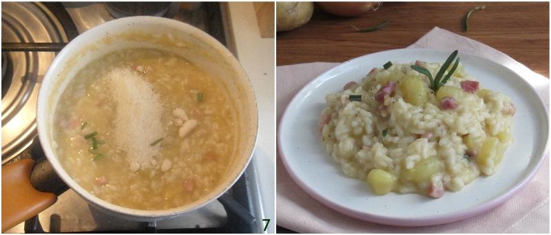 risotto patate e pancetta ricetta facile e gustosa senza burro il chicco di mais 3 mantecare il risotto con il parmigiano