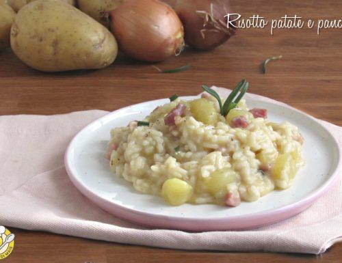 Risotto patate e pancetta