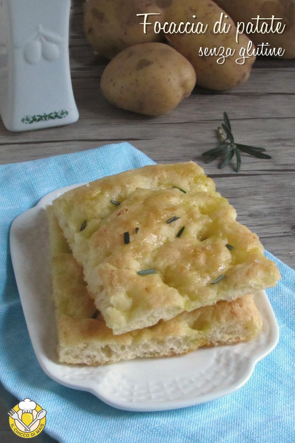 v_ focaccia di patate senza glutine ricetta con patate lesse nell'impasto il chicco di mais