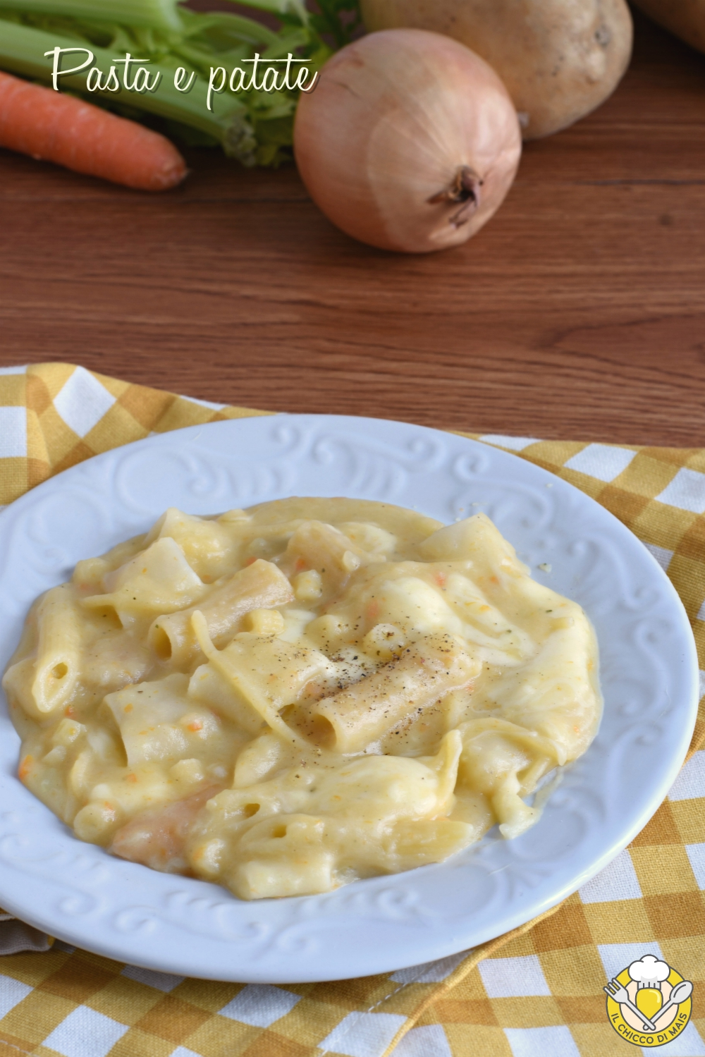 v_ pasta e patate alla napoletana con provola ricetta originale senza pomodoro il chicco di mais