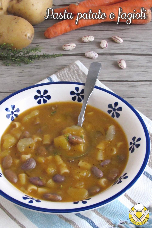v_ pasta patate e fagioli cremosa primo invernale facile economico cucina povera il chicco di mais
