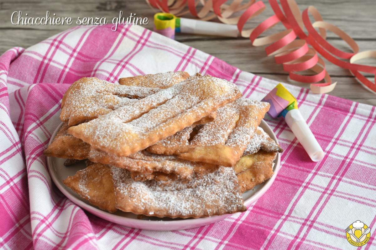 chiacchiere senza glutine fritte o al forno con farina nutrifree ricetta crostoli cenci frappe di carnevale glutenfree il chicco di mais
