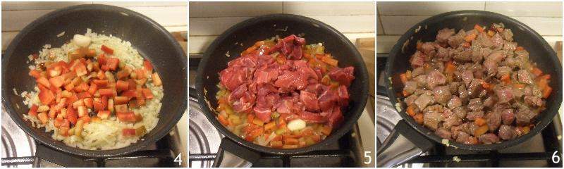 chili con carne alla texana con carne a pezzi ricetta originale americana il chicco di mais 2 soffriggere carne e cipolle